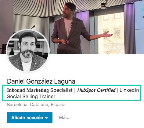 formatos de letra especiales en LinkedIn